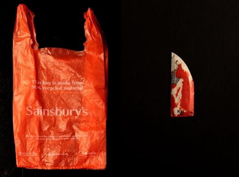 Pendant The Eye – n11 02 plastic bag 6 · 4 · 0.3 cm 2013